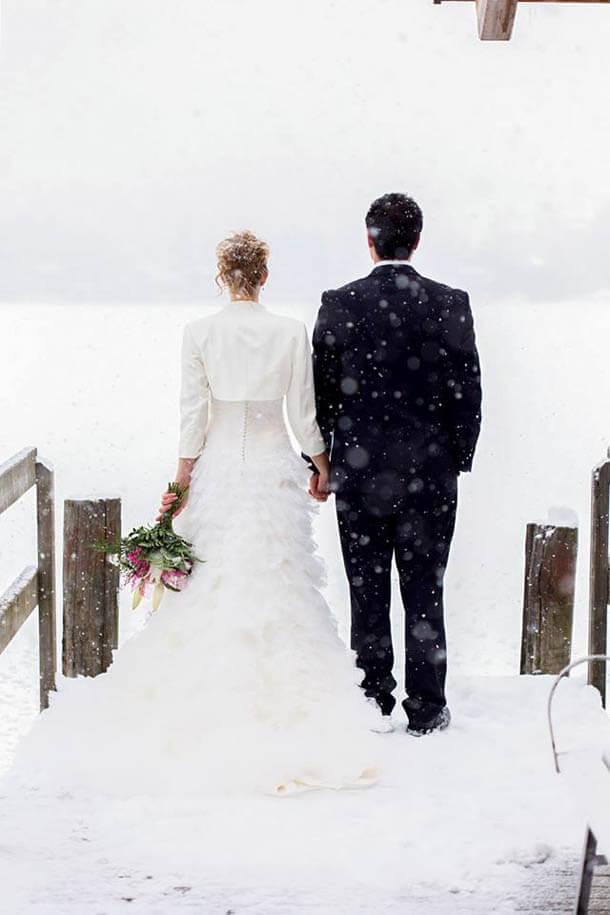 Heiraten im Winter. Winterhochzeit in Klagenfurt, Villach und Kärnten in Österreich